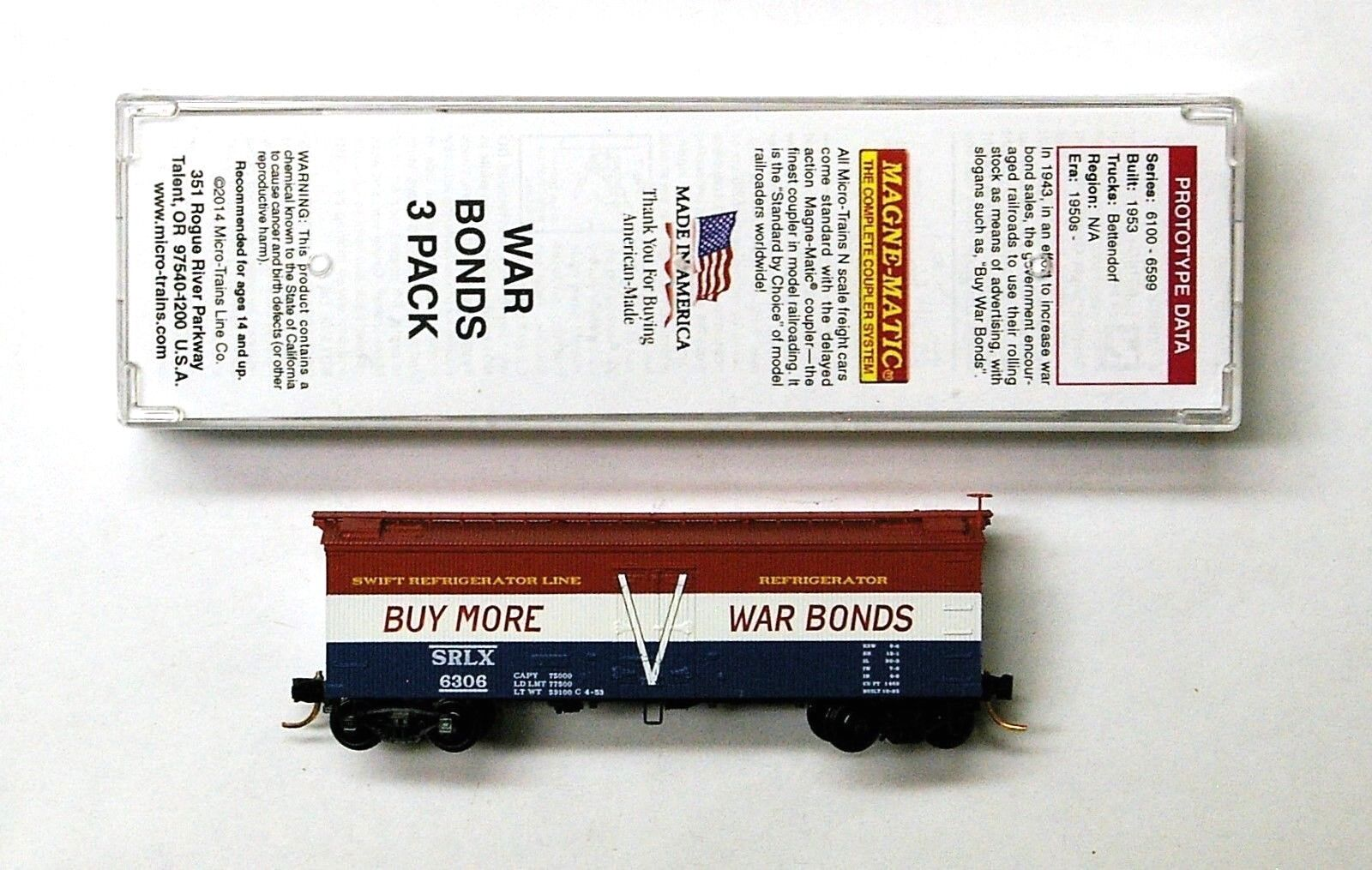 MTL Micro-Trains 58556 Swift SRLX 6306  Buy War Bonds