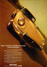 JAGUAR V12 E TYPE XK-E RETRO A3 POSTER PRINT FROM CLASSIC 70's ADVERT