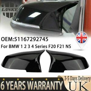 Rear Wing Mirror Cover Cap Gloss Black For BMW F20 F21 F22 F30 F32 F36 X1 F87 UK