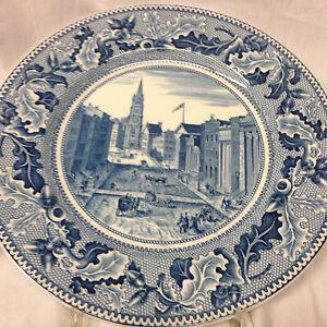 JOHNSON BROTHERS ENGLAND HISTORIC AMERICA BLUE SALAD PLATE 8 3/4 ...