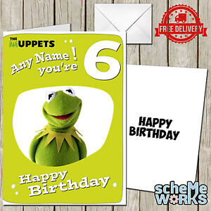 Kermit muppets personalised greeting birthday card frog movie miss image is loading kermit muppets personalised greeting birthday card frog movie m4hsunfo