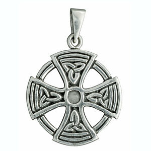 68 g stamped 925 sterling silver maltese cross pendant circle image is loading 6 8 g stamped 925 sterling silver maltese aloadofball Images