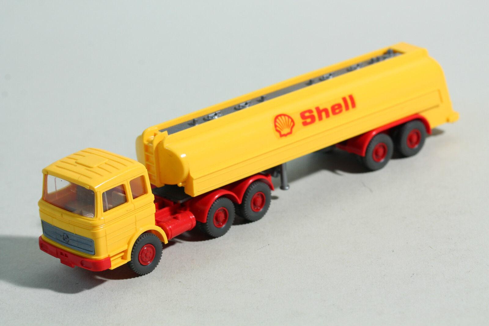 967  Type 3 Wiking Shell Tank Semi-Trailer MB 2223 1972 - 1973 rouge & jaune  vente discount en ligne