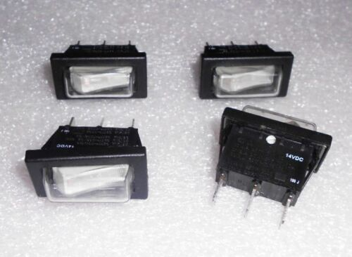 4X Illuminated Rocker Switches 14VDC SPST w// Water Resistant Boot Marine Outdoor