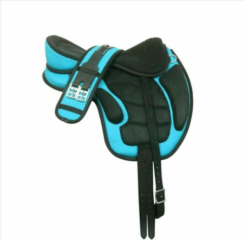 New Treeless Freemax Synthetic Saddle Matching Girth Free Fly Veil