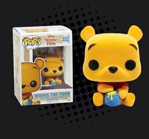 Funko-Pop-Winnie-l-039-ourson-252-Disney-Winnie-l-039-ourson-floque-Hot-Topic-exclsve