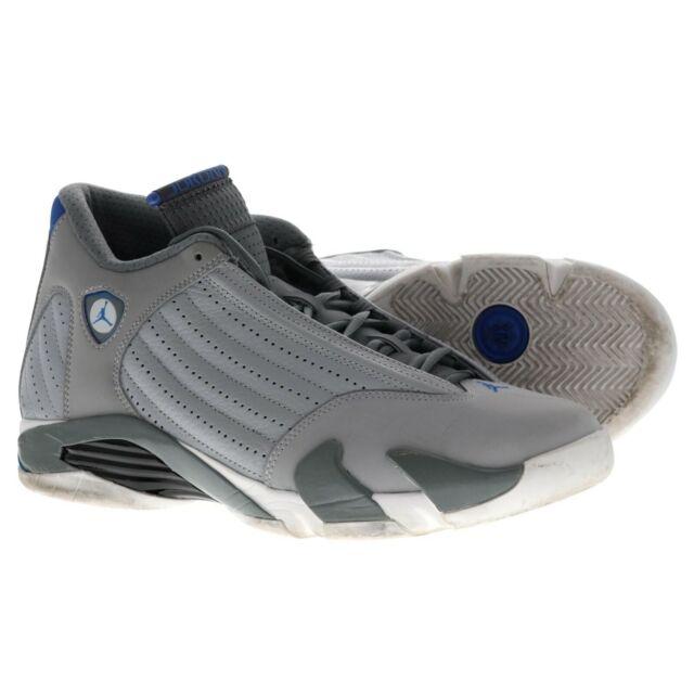 purchase cheap 6609b 7603e Nike Air Jordan Retro 14 Wolf Gray Sport Blue 487471-004 Men's Size 11  Sneaker