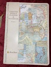 Punch Studio Undated Weekly Planner Amp Notebook World Map 6 X 825