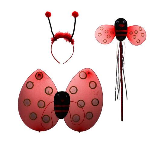 3X SMALL NET LADYBIRD BUMBLE BEE BUTTERFLY WINGS PARTY FANCY DRESS HEN NIGHT