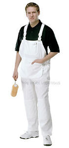 2-x-Pairs-Of-ProDec-Painters-Bib-amp-Brace-White-Cotton-Overalls-Dungarees-PC187