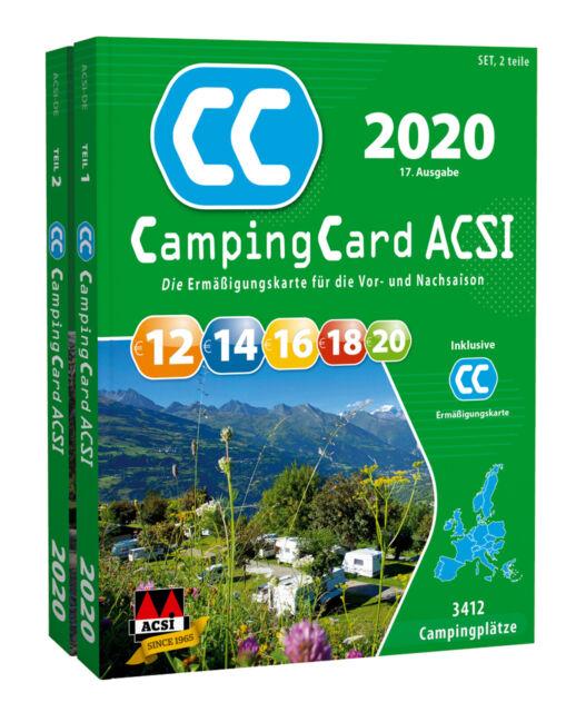 CampingCard ACSI Campingführer 2020 inklusive Ermäßigungskarte