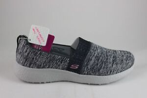 Skechers Women's BURST Blown Away 12746 Black Gray Brand New