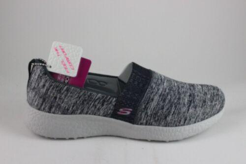 Black 12746 zecca Nuovo Away Burst Blown Women's Skechers di Grey qIxPUXgqw
