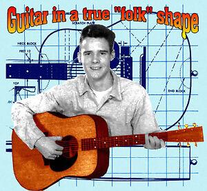 Make handmade guitar in true folk shape printed plans and building.