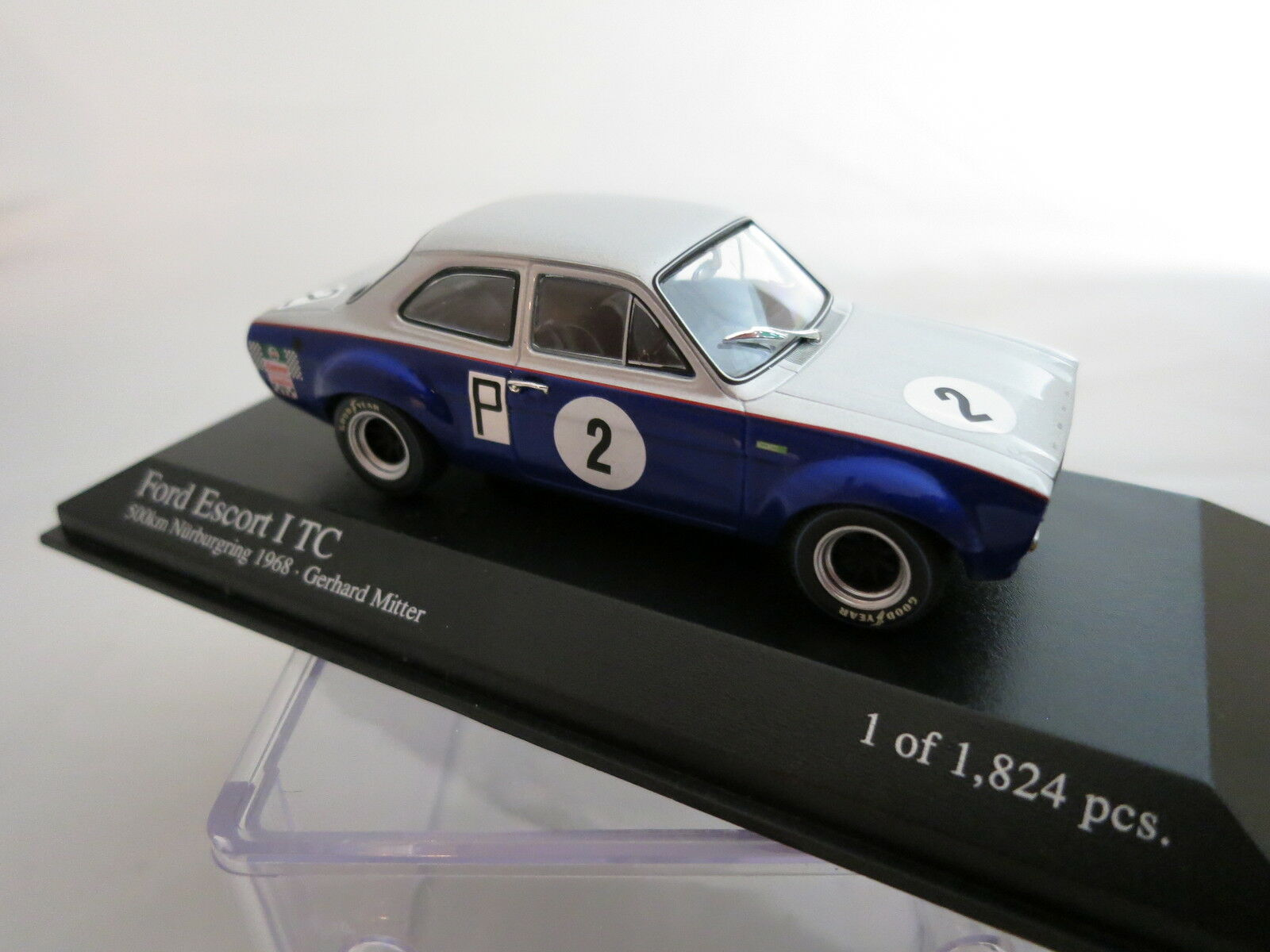 Minichamps Ford Escort I tc Nurburgring 1968 Gerhard Mitter 1 43 top & OVP
