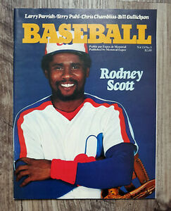MLB-1981-Montreal-Expos-Game-Program-Vol-13-No-3-Rodney-Scott-Cover