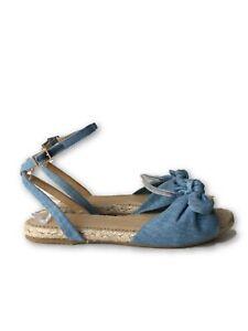 NEW-CHARLOTTE-OLYMPIA-BLUE-039-MARINA-039-ESPADRILLE-SANDALS-39-495
