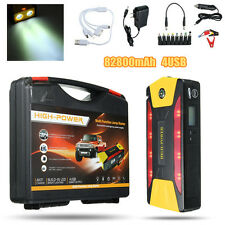 82800mAh 12V Coche Jump Starter Cargador Batería Booster Emergencia Power Bank