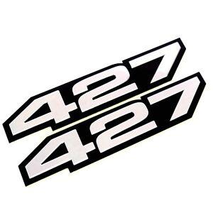 2X 427 Aluminum Emblem Badge Decal Silver/&Black for Chevy Corvette Z06-C6 427 CI