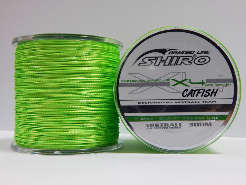 Shiro Dyneema Intrecciato 300 M Catfish X4 green da Pesca Linea extra Strong