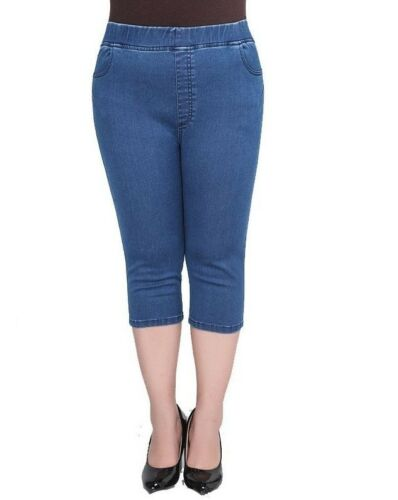 Stretchable Size Bukser Plus Denim Band Jeans Kvinder Waist Elastisk Wear High Capri wqxaBSAxU