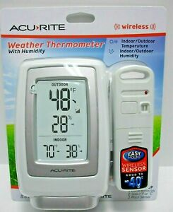 NEW-ACURITE-WIRELESS-WEATHER-THERMOMETER-WITH-HUMIDITY-00609SBDIA3