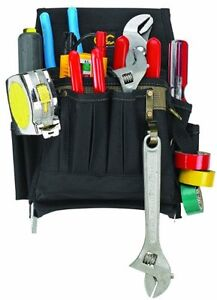Custom-Leathercraft-1505-Electrician-039-s-Tool-Pouch-10-Pocket