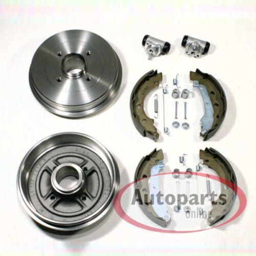 Opel Corsa C Bremstrommeln Bremsen Bremsbacken Set Zubehör Satz für hinten
