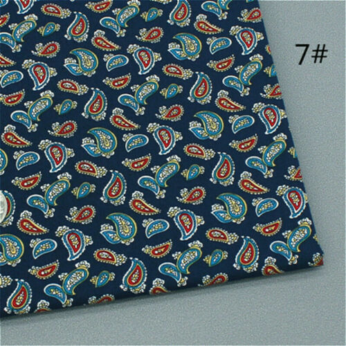 Paisley Pattern Floral Cotton Fabric Craft Cloth Costume 100*147cm DIY Solid Sew
