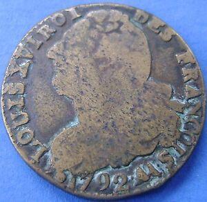 France-Frankrijk-2-sols-1792-AA-Metz-LOUIS-XVI