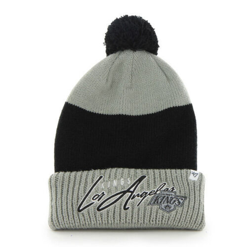 NHL Los Angeles Kings L.A Wollmütze Wintermütze Hustle Cuff Knit Hat mit Pommel Fanartikel
