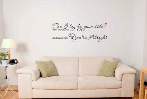 Sam Smith John Legend Lay Me Down Song Lyrics Wall Art Vinyl Sticker ...