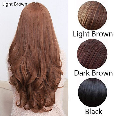 Sexy Women Fashion Long Wavy Curly Hair Cosplay Costume Party Full Wig/Wigs