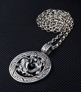 Japanese koi tattoo 925 sterling silver pendant chain necklace fish image is loading japanese koi tattoo 925 sterling silver pendant chain aloadofball Image collections