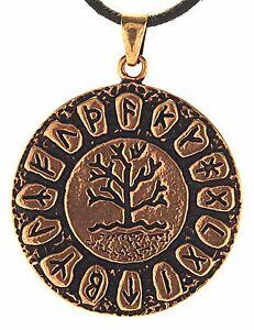 No-117-Tree-of-Life-Runes-Yggdrasil-Runes-Alphabet-Viking-Bronze-Band-Pendant