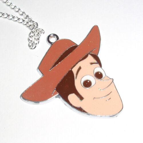 Kitsch Kawaii Enamel Glitter Charm necklace Toy Story Woody the Cowboy