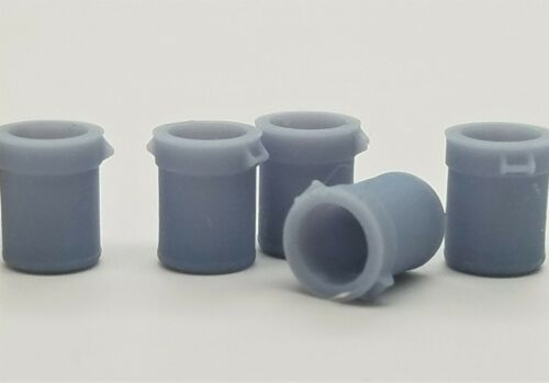 Open-Top Garbage Can Kit HO Scale Gray 870830