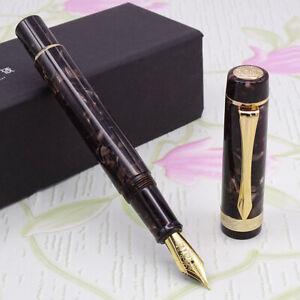LIY-Marble-Resin-Acrylic-Fountain-Pen-Schmidt-Nib-amp-Converter-F-Gift-Box-Chaifei