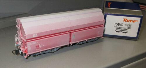 4-achsig V-VI /_ Neu Roco H0 75940 DB AG Schwenkdachwagen Kalktransport /_ Ep