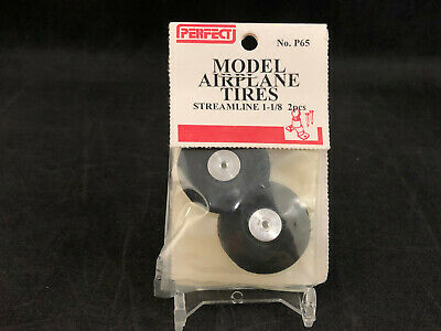 """38mm Perfect P64 Model Airplane Tires 1-1//2/"""" Rubber Balloon Tires  Ships Free"""