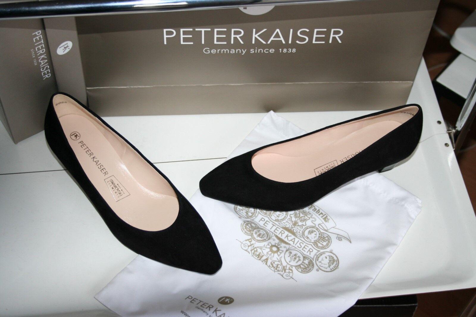 PETER KAISER  Pumps  Neu schwarz  feines echtes Leder SUEDE SALL Gr 5 1/ 2 +