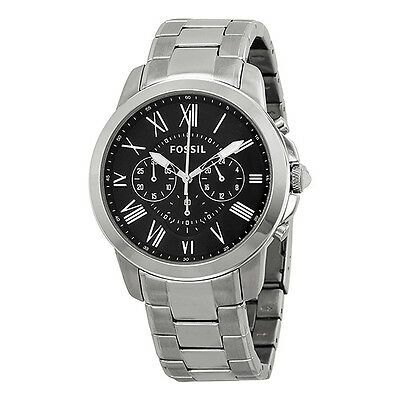 Fossil Grant Chronograph Stainless Steel Mens Watch FS4736