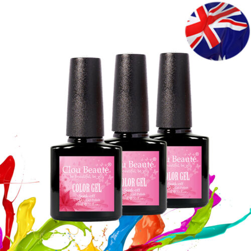 10ml Any 1 Clou Beaute Uv Led Gel Polish Gelish Soak Off Color Nail Art Base Top