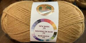 Lion-Brand-New-Basic-175-Yarn-Camel-Med-Wght-4-25-Wool