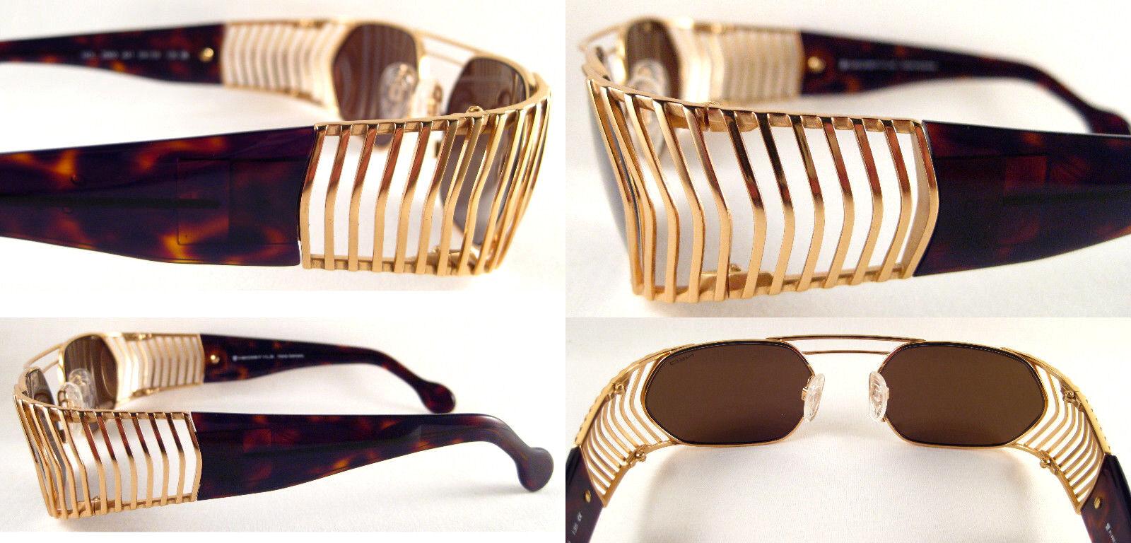 RARE & & & VINTAGE HOLLYWOOD STYLE UNISEX SUNGLASSES METAL   Gold   braun,   | Hohe Qualität und günstig  1858be
