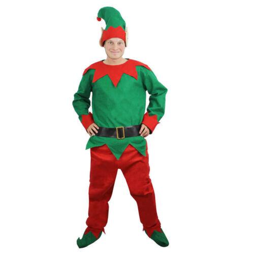 ADULTS ELF COSTUME CHRISTMAS MENS LADIES SANTAS LITTLE HELPER XMAS FANCY DRESS