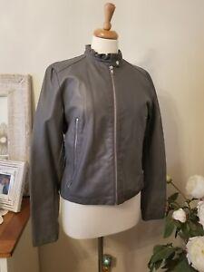 co Nwot ny Læder M New Størrelse York Jacket Collar Ruffle Faux Medium Company aqWt4H