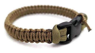 Micro Cordon Bracelets U.S Noir//Tan vendeur-Handmade Paracord Bracelet