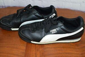 PUMA-Roma-Basic-Classic-Black-White-Mens-Shoes-Sneakers-Size10-35357211