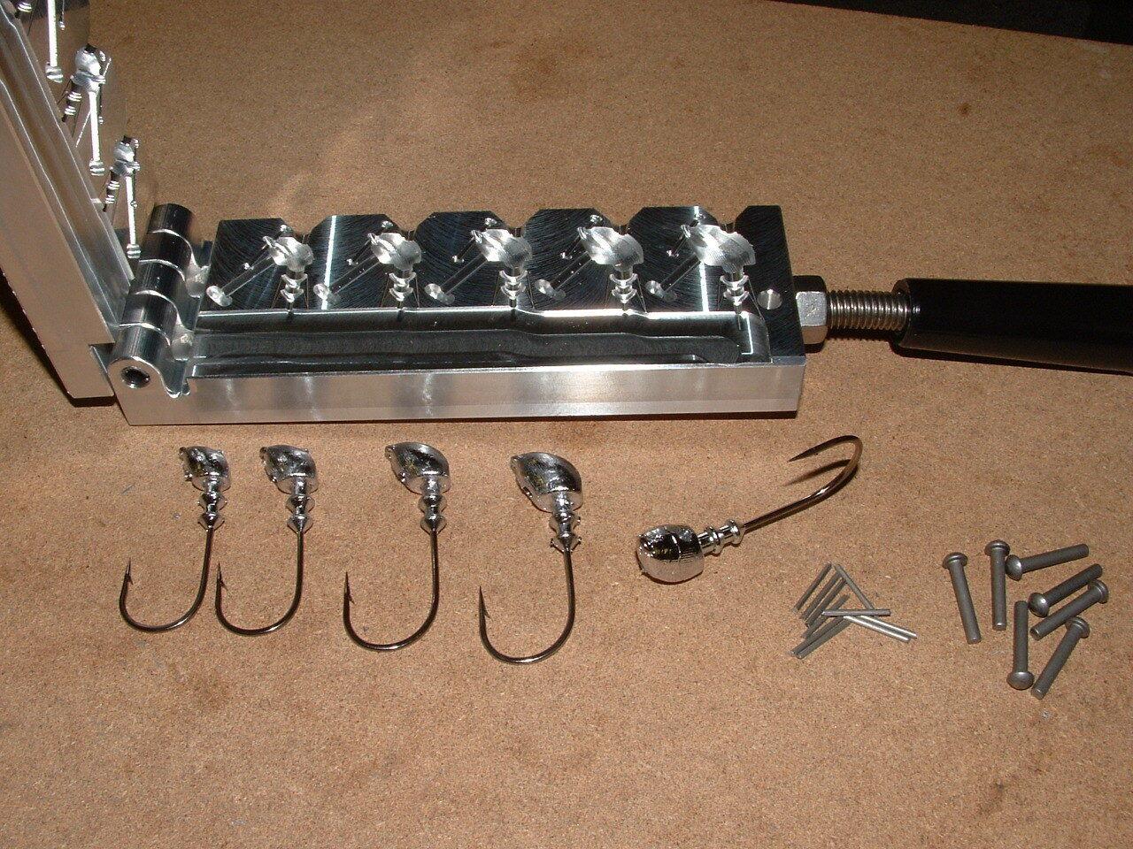 Freshwater Flateye Standup jig mold 1 4 ,5 16,3 8,1 2,5 8oz CNC Aluminum Bass